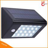 Piccolo indicatore luminoso solare economico popolare del sensore di movimento del LED, indicatore luminoso solare del giardino