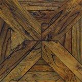 Suelo de madera sólida del modelo del olmo para la sala de estar/el sitio de la base
