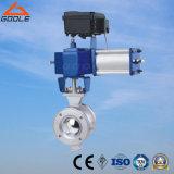 Robinet à tournant sphérique pneumatique de V-Port/type de réglementation (VQ670F)