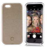 Geval van de LEIDENE het Lichte Lichtgevende Telefoon van de Cel Selfie verlichtte omhoog Rugdekking voor iPhone 7 7plus 6 6s 6plus van de Appel