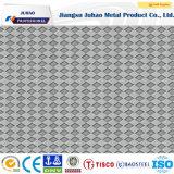 plaque Checkered gravée en relief de l'acier inoxydable 304 de 2mm