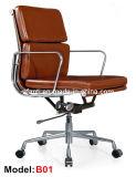 Стул менеджера Eames босса офиса эргономический кожаный алюминиевый (RFT-B01)