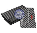 Le luxe conçoivent la carte nommée de visite de fibre réelle de carbone d'invitation d'impression