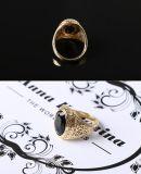 Anel de dedo grande do anel do gotejamento da jóia da forma