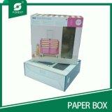 PVC Windowsが付いている4つのカラーCorruagtedの板紙箱