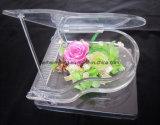Высушенное искусствоо DIY цветков 3D сохранило цветок с Heart-Shaped украшением дома стеклянной бутылки коробки