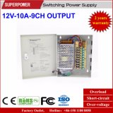 12V 10A 9CH de Levering van de Macht van de Omschakeling van de Camera van kabeltelevisie van de Output