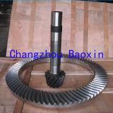 Mina que perfora los engranajes impulsores biselados del espiral entero de la forja del vector rotatorio