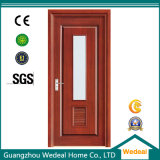 Personalizar a porta de madeira do MDF do PVC com vidro para projetos das casas