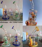 2017 de Nieuwe Gloed van de Waterpijp van het Glas van het UVLicht Hbking van de Aankomst Kleurrijke bij Pijp van het Glas van het Onkruid van de Pijp van het Glas van de Nacht de Rokende