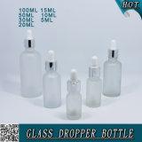 Kosmetische bereiftes Glas-wesentliches Öl-Tropfenzähler-Flaschen