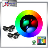 9W 12 Pods LED Rock Light RGB Color Alterável Controle Bluetooth Música Flash Offroad LED Rock Light para carros