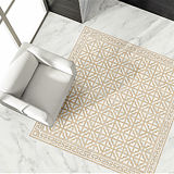 新しい光沢のある表面が付いているデザインによって磨かれる艶をかけられた大理石のコピーの床タイル