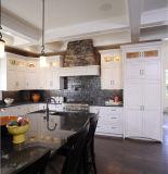 Ritzの台所Furitureのクリーム色の純木の食器棚