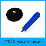 Magnete rivestito di gomma del POT del neodimio di alta qualità con il foro della vite