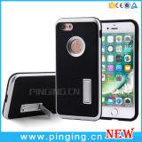 Hybrider Kohlenstoff-Faser-Standplatz-Telefon-Kasten für iPhone 7 4.7inch