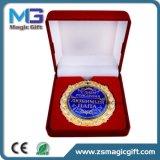 Medaglia del ricordo del premio di alta qualità con l'imballaggio del contenitore di velluto