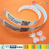 Wristband идентификации бумаги RFID NTAG213 PP винила синтетический Printable терпеливейший