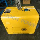 Dg6000se 5kwのポータブルの自己開始の無声ディーゼル発電機