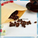 Lj1-214クラフト紙のギフトまたは茶またはキャンデーまたは宝石類またはパンのパッキング袋のためのジップロック式のアルミホイル袋