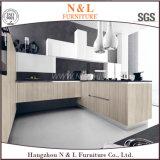 古典的な様式の純木のホーム家具の木製のベニヤの食器棚