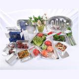 Recipiente quadrado da folha de alumínio do agregado familiar para o alimento do armazenamento
