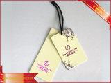 Étiquette de coup estampée par vêtement d'étiquette de coup de Livre Blanc