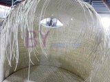 Daybed branco curvado do dobro do Rattan da mobília projeto original italiano