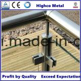 Edelstahl-quadratische Glasschelle für Treppenhaus-Glasgeländer