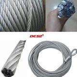 Câble métallique de levage flexible d'acier inoxydable de qualité