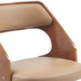 De Hoogte Regelbare Barstool van Bentwood van het Leer van Faux