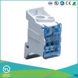 Блок одетого алюминиевого шинопровода меди Гам-Рельса Jut11-125A терминальный