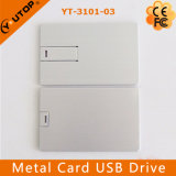Aandrijving van de Flits van de Creditcard USB van het Metaal van de douane de Promotie(Yt-3101-03)