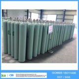 40L 150bar 219mm Cilinder van het Argon van het Staal van de Hoge druk van de Diameter de Naadloze