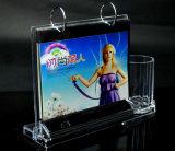 Calendrier de bureau acrylique en cristal avec le support de crayon lecteur