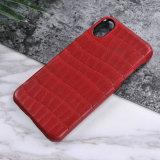 Caixa luxuosa real do telefone de pilha do couro genuíno para o iPhone 8