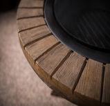 مستديرة حديقة [فوإكس] [ووود فير] حفرة طاولة