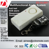 Сигнал тревоги датчика вибрации RF с дистанционным управлением для для двери/окна