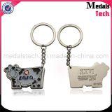 Alliage de zinc moulé sous pression Porte-clés en émail doux en métal personnalisé spécial pour souvenir