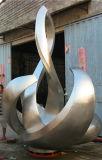 Sculpture extérieure en acier inoxydable, belle courbe d'art abstrait