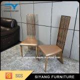 Aço inoxidável de couro moderno do plutônio que janta a cadeira