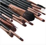 conjunto de cepillo cosmético del maquillaje 15PCS con los cepillos del lápiz de ceja del sombreador de ojos