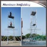 Aluminiumlegierung-Rahmen-Gestell-Doppelt-Breiten-Baugerüst-System mit Fußrolle