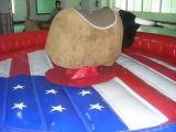 EE.UU. colchoneta inflable bandera toro mecánico para adultos