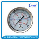 Medidor de pressão da cápsula - Manómetro traseiro seco - Medidor de aço inoxidável