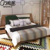 최신 현대 단단한 나무 침대 침실 가구 (CH-601)