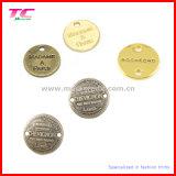 Étiquette faite sur commande de bijou en métal avec le logo gravé différent de marque (TC-TAG665)