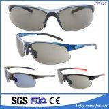 Laufen der komprimierenden schützender Sport polarisierten Sonnenbrillen mit Gummibügel-Spitze