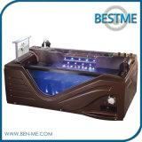 Bañera de acrílico del masaje del cuarto de baño negro del color para una persona (BT-A1015)