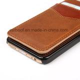 Caisse en cuir de téléphone avec le slot pour carte pour iPhone6s/6p/7s/7p